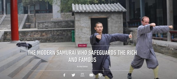 The Modern Samurai Who Safeguards the Rich and Famous